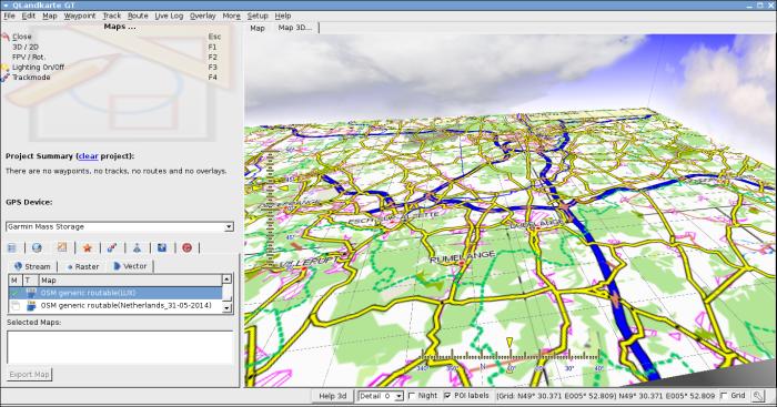 Use Garmin OpenStreetMap files with QlandkarteGt « Tux ICT